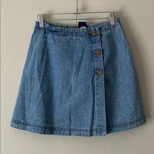 Dresses & Skirts - Vintage short wrap jean skirt